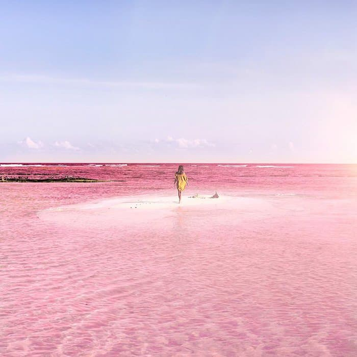 Le lagon de Las Coloradas